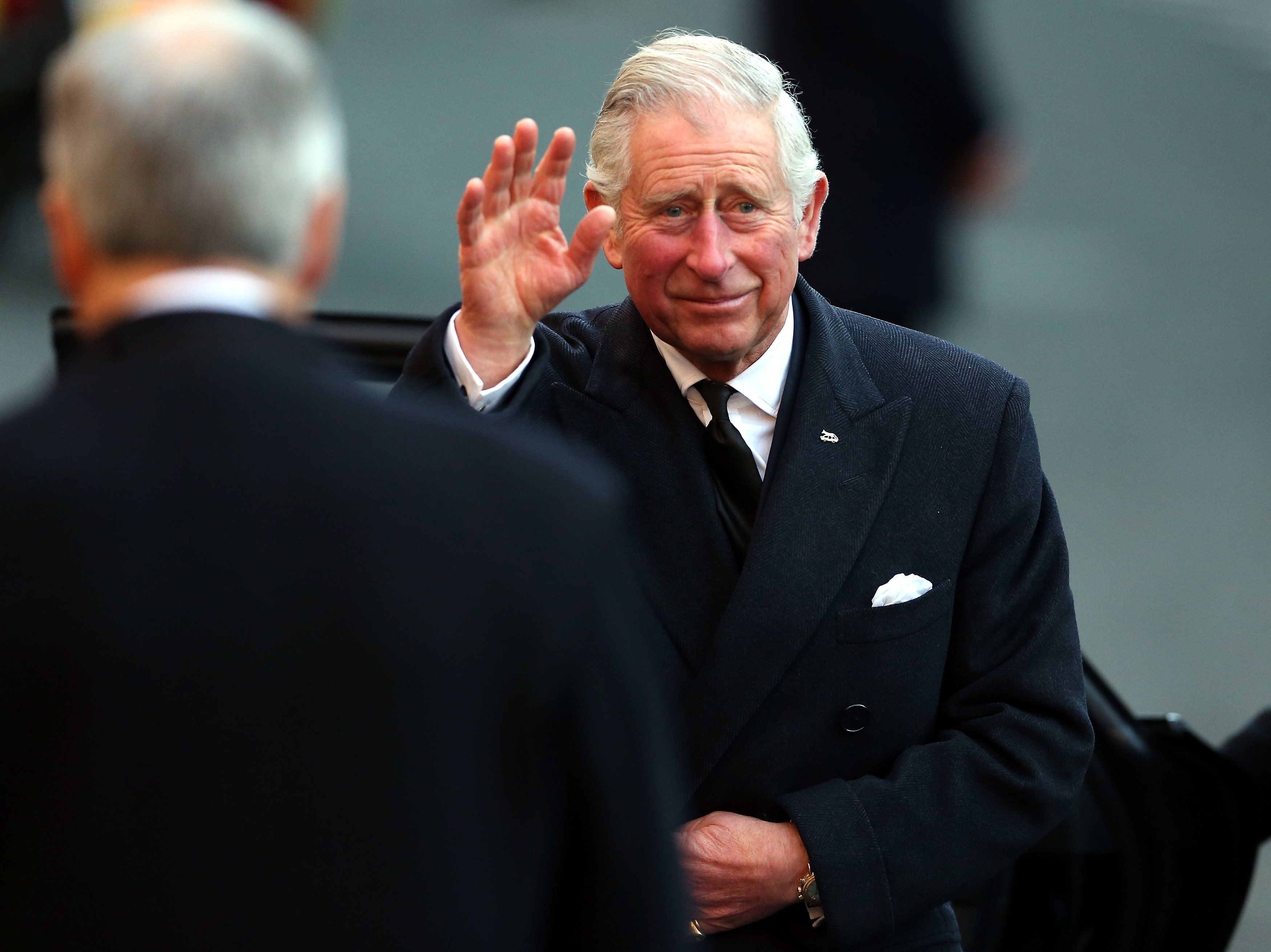 CHESTER, ENGLAND - NOVEMBER 28:  Prince Charles, Prince of Wales arrives for the memorial service of The Duke of Westminster at Chester Cathedral on November 28, 2016 in Chester, England.. The Duke is survived by his wife, the Duchess of Westminster, Natalia Grosvenor, daughters Lady Tamara van Cutsem, Lady Edwina Grosvenor and Lady Viola Grosvenor and his 25-year-old son and heir Hugh Grosvenor.   (Photo by Nigel Roddis/Getty Images)