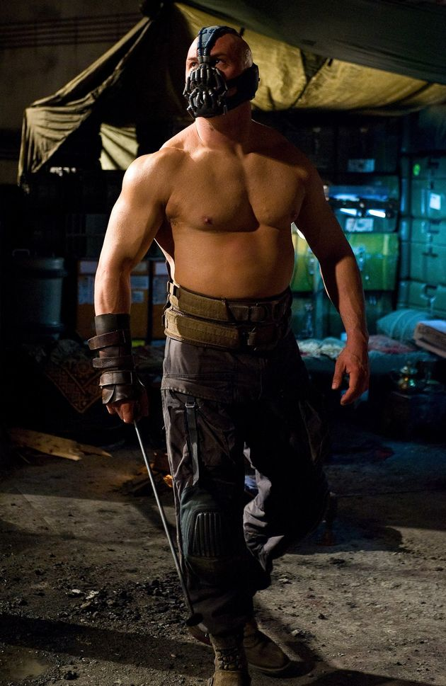 Tom bulked up dramatically to play Bane in 'Dark Knight