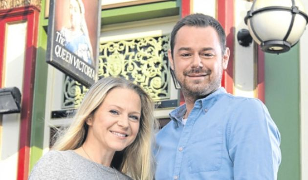 Danny Dyer and his co-star, Kellie