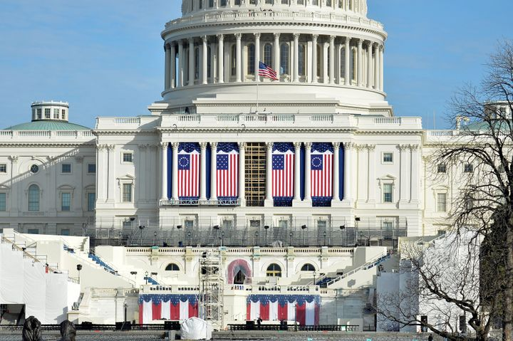 Preparations are finalized on the West Front of the U.S. Capitol, where Donald J. Trump will be sworn in as America's 45th pr