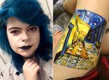 Teen Creates Stunning Painting On Her Leg Instead Of Self-Harming