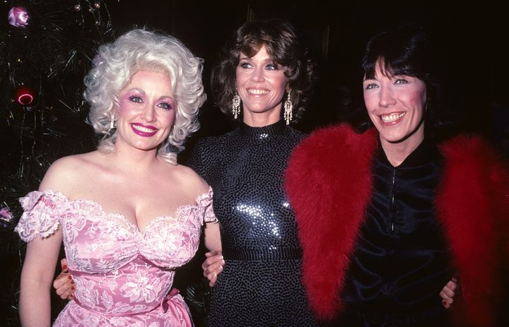 "The actresses attend the New York ""9 to 5"" premiere in 1980."