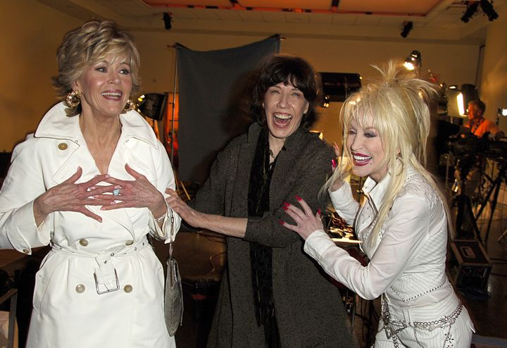 "The actresses honor ""9 to 5"" at the movie's 25th anniversary DVD release party in 2006."