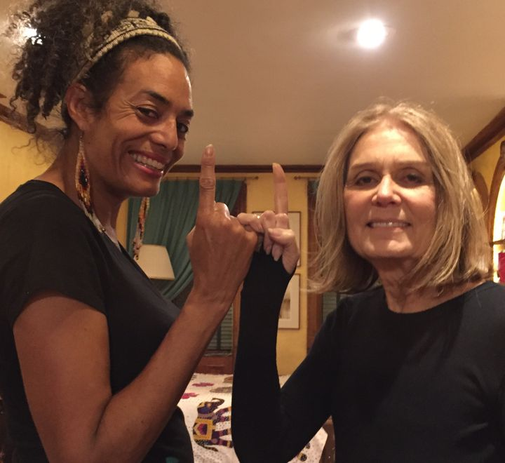 <em>Founder of 1@1, Aly Palmer, with Gloria Steinem (right)</em>