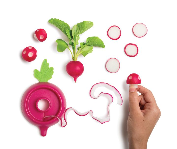 Everything you need to turn a radish into a mushroom.