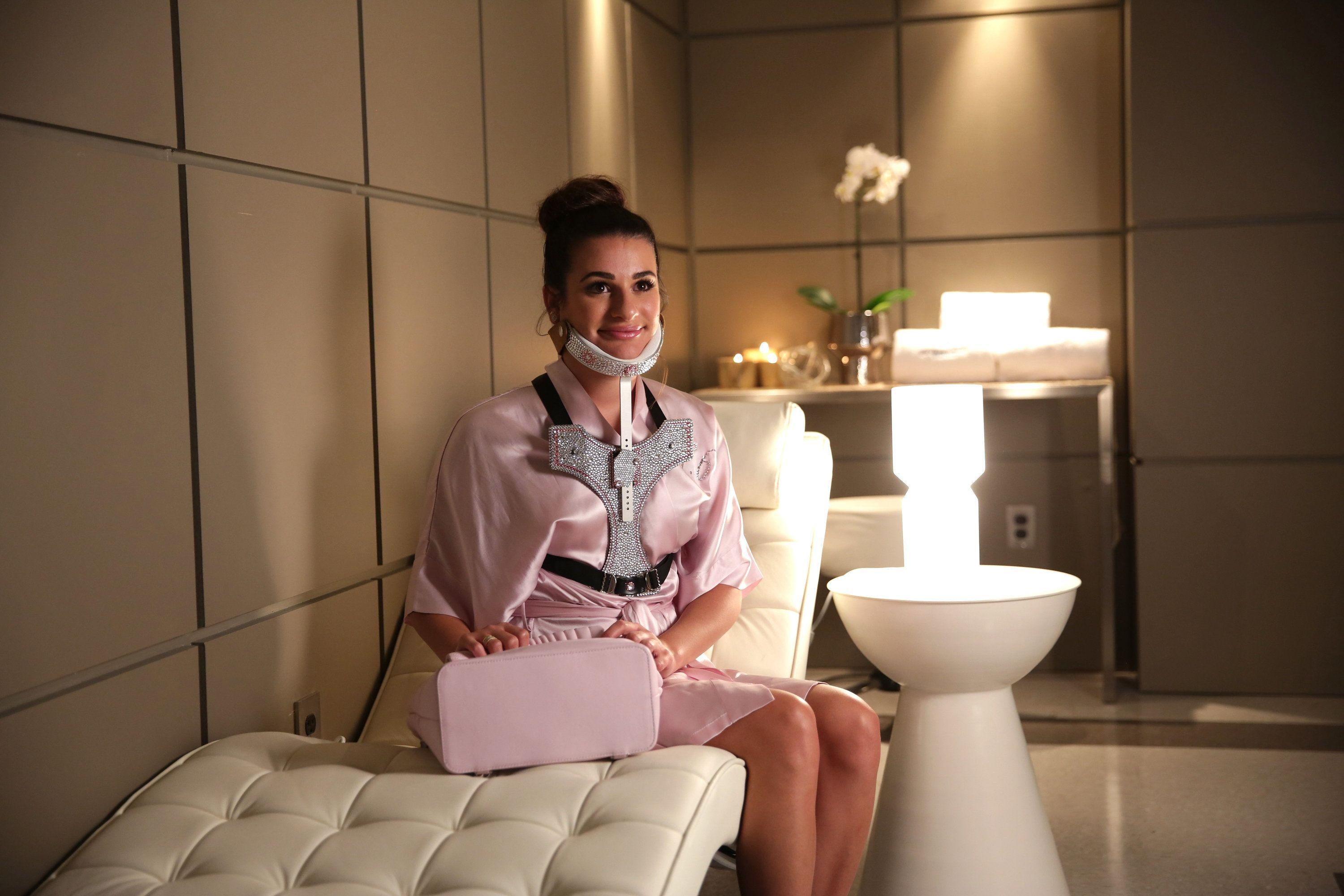 SCREAM QUEENS: Lea Michele in the 'Black Friday' episode of SCREAM QUEENS airing Tuesday, Dec. 1 (9:00-10:00 PM ET/PT) on FOX. (Photo by FOX via Getty Images)