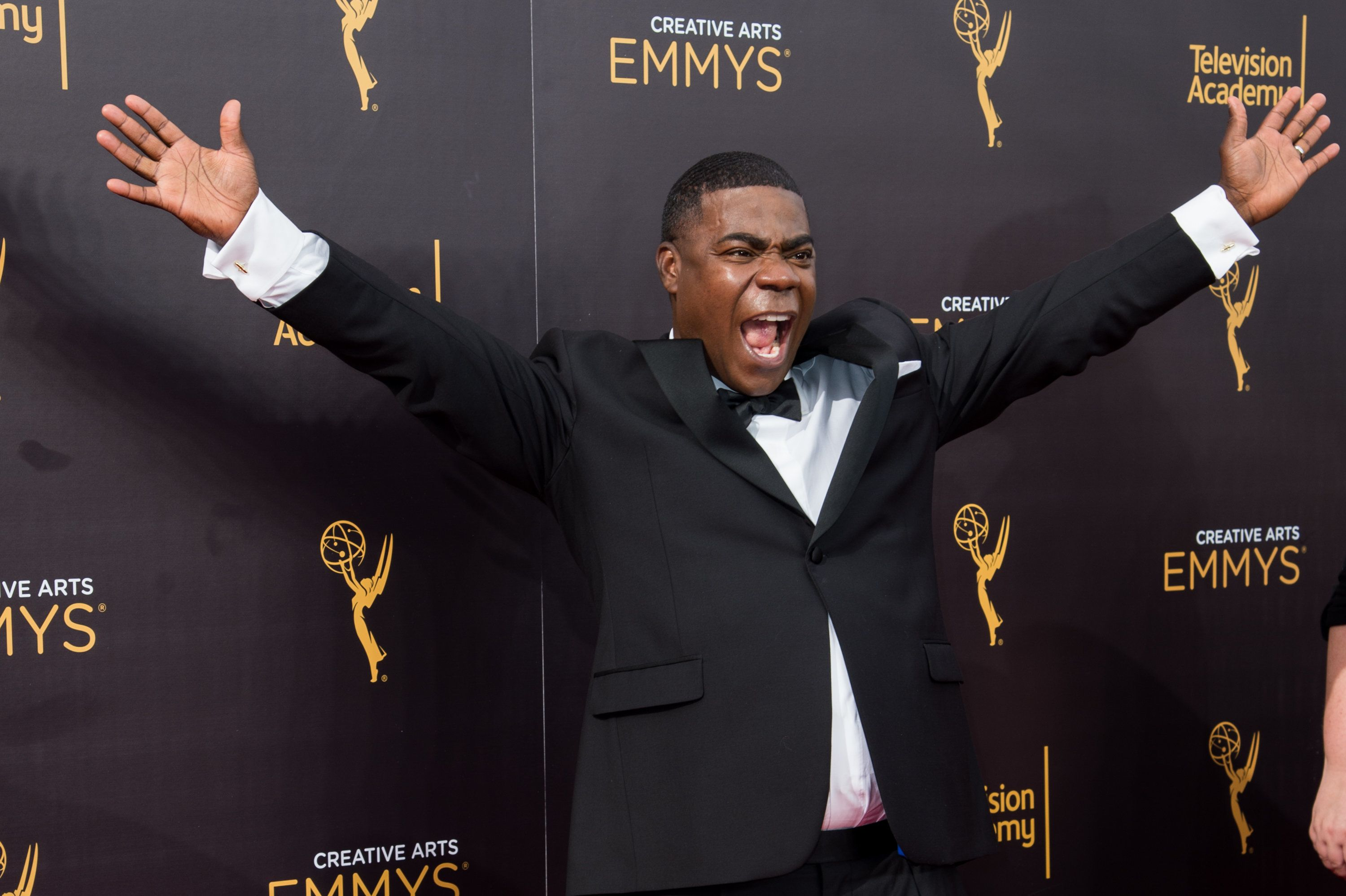 LOS ANGELES, CA - SEPTEMBER 10:  Actor Tracy Morgan arrives at the 2016 Creative Arts Emmy Awards at Microsoft Theater on September 10, 2016 in Los Angeles, California.  (Photo by Emma McIntyre/Getty Images)