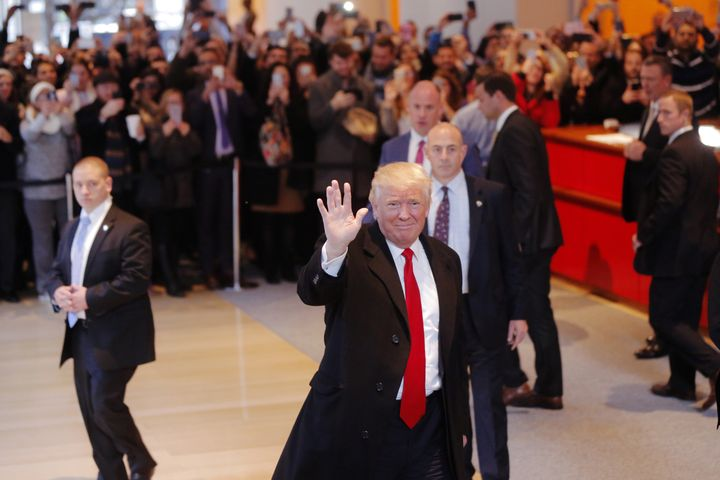 Donald Trump praised the New York Times during a visit to the company's headquarters shortly after the election.