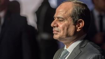 LISBON, PORTUGAL - NOVEMBER 21: Egyptian President Abdel Fattah el-Sisi pays homage to Luis de Camoes, Portugal's and the Portuguese language's greatest poet, before his tomb in the Jeronimos Monastery,  on November 21, 2016 in Lisbon, Portugal. The Egyptian President is on a two-days state visit to Portugal. (Photo by Horacio Villalobos - Corbis/Corbis via Getty Images)
