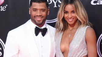 LOS ANGELES, CA - JULY 13:  Ciara and NFL player Russell Wilson arrive at The 2016 ESPYS at Microsoft Theater on July 13, 2016 in Los Angeles, California.  (Photo by Gregg DeGuire/WireImage)