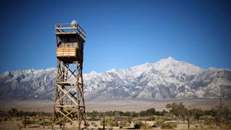 A guard tower at Manzanar internment camp is seen in Independence, California July 17, 2013. Nearly 120,000 people of Japanese ancestry were removed from their homes on the west coast by the U.S. Army and sent to Manzanar and nine other internment camps between March 1942 and November 1945. Two thirds of them were American citizens.  REUTERS/Lucy Nicholson (UNITED STATES - Tags: SOCIETY)
