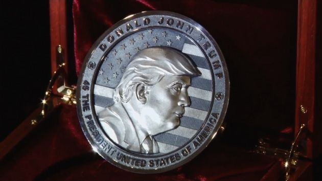 A Russian company has revealed a commemorative Donald Trump coin ahead of this week's