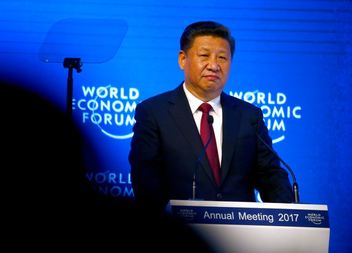 Chinese President Xi Jinping attends the World Economic Forum annual meeting in Davos, Switzerland, on Tuesday.