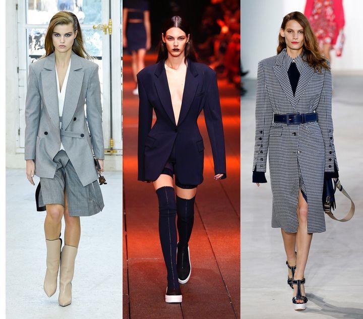 <p>From left: Louis Vuitton, DKNY, Michael Kors.</p>