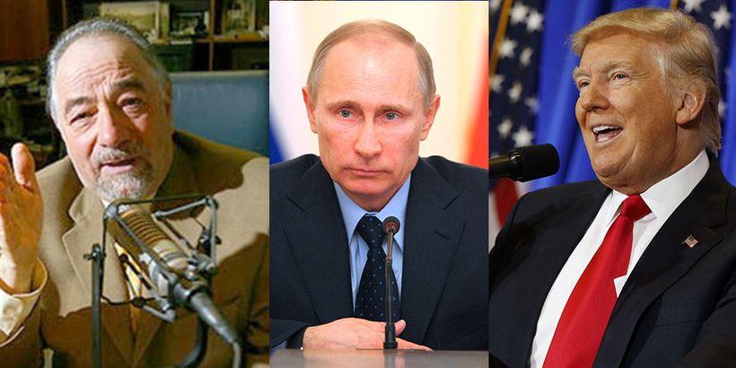 Left: Radio host Michael Savage. Middle: Russian President Vladimir Putin Right: Donald Trump