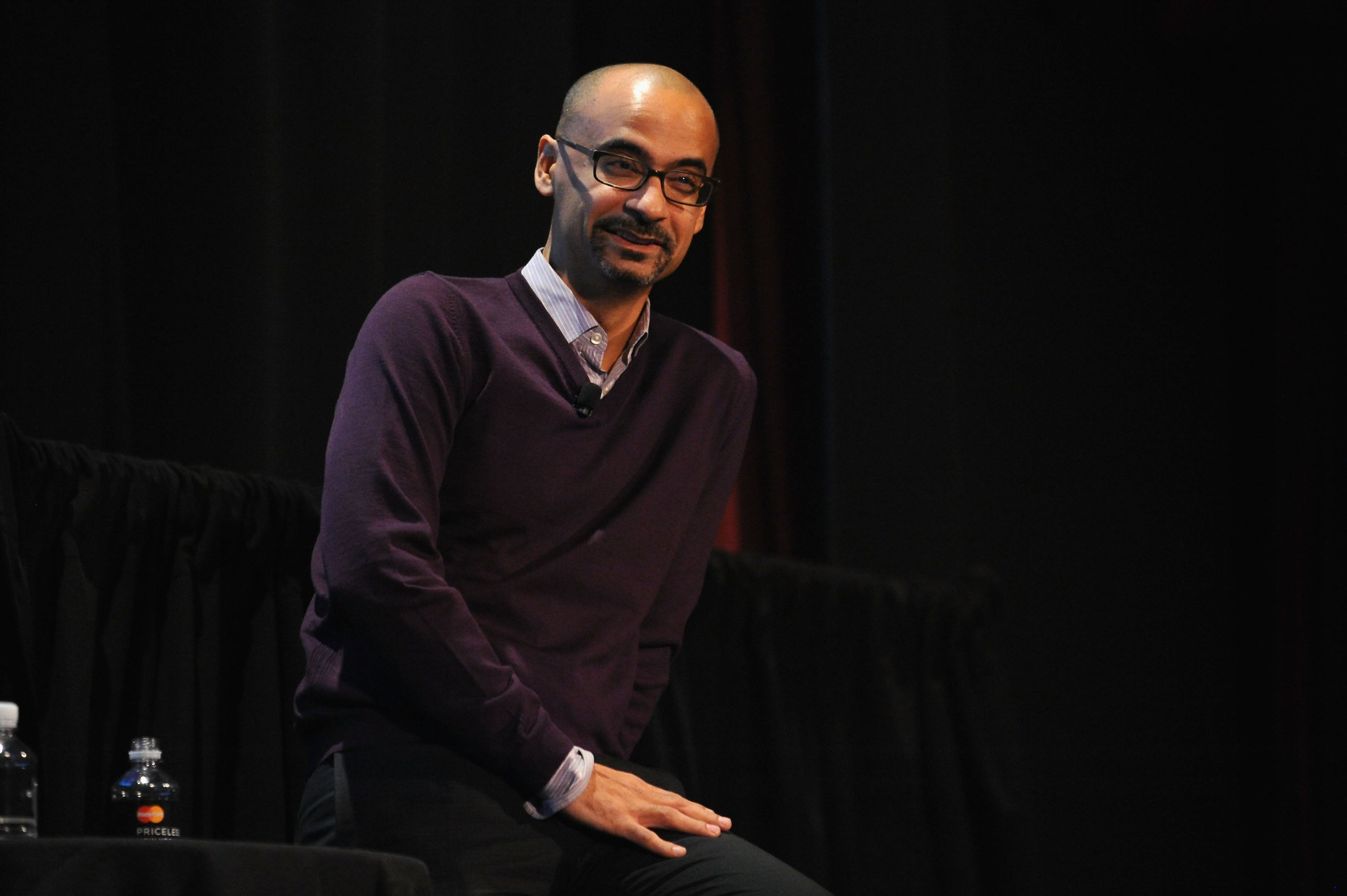 NEW YORK, NY - OCTOBER 10:  Writer Junot Diaz attends the Jersey Boys: David Chase, Junot Diaz, And Sam Lipsyte Moderated By David Remnick during The New Yorker Festival 2014 on October 10, 2014 in New York City.  (Photo by Andrew Toth/Getty Images for The New Yorker Festival)