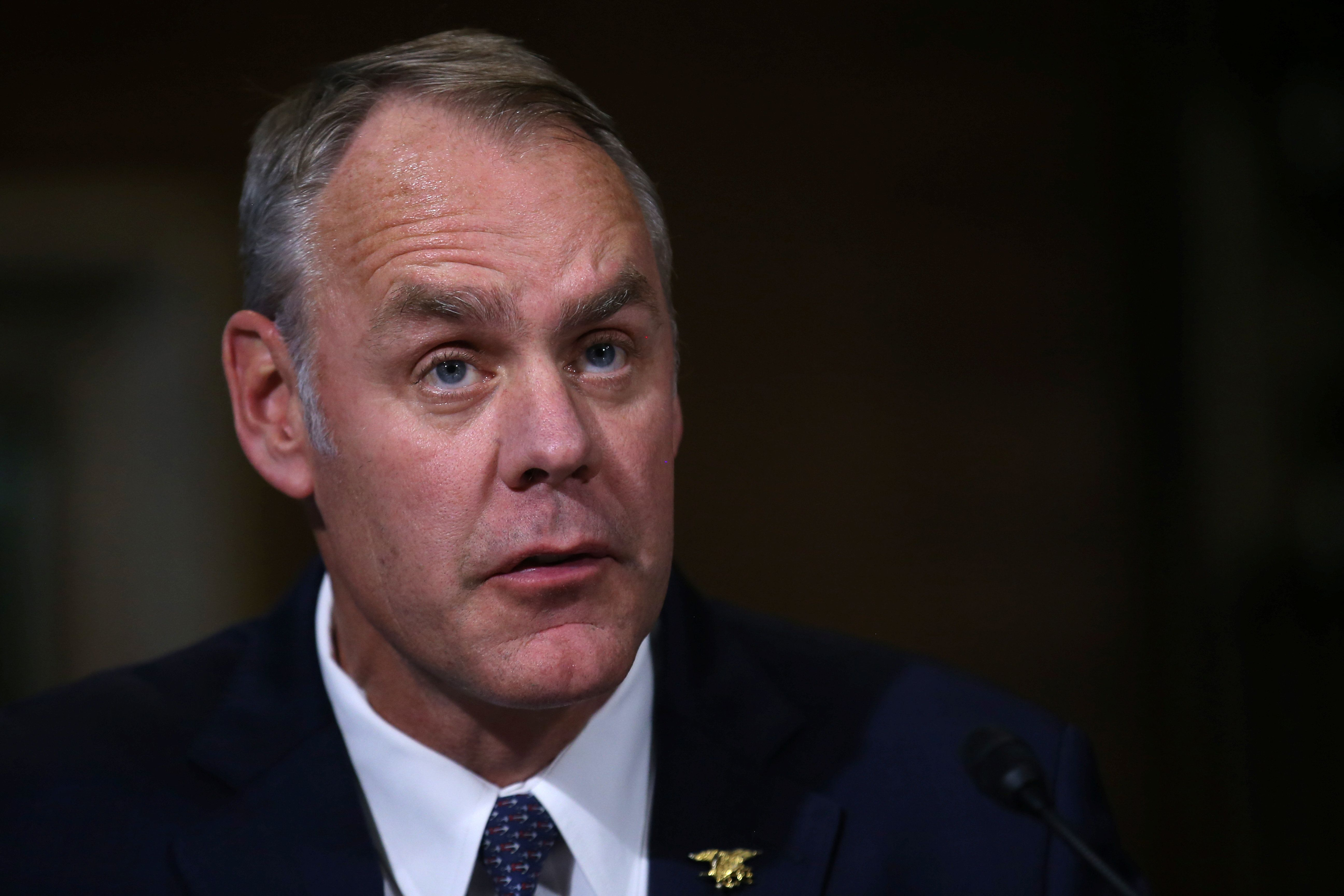 U.S. Representative Ryan Zinke (R-MT), a former Navy SEAL commander, testifies before a Senate Energy and Natural Resources Committee confirmation hearing on his nomination to be Interior Secretary at Capitol Hill in Washington, U.S., January 17, 2017. REUTERS/Carlos Barria
