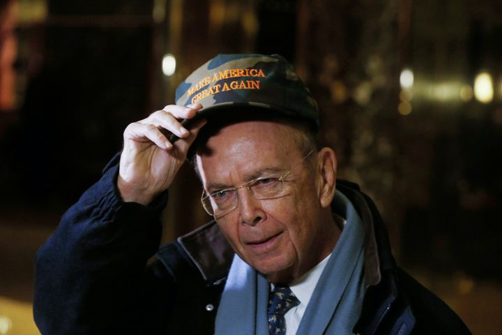 Billionaire investor Wilbur Ross, chairman of Invesco Ltd subsidiary WL Ross & Co, departs Trump Tower after a meeting wi