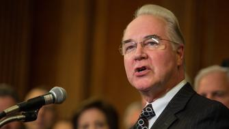 UNITED STATES - JANUARY 7 - House Budget Committee Chairman Tom Price, R-Ga., speaks at a signing ceremony for the 'Restoring Americans Healthcare Freedom Reconciliation Act of 2015' at the U.S. Capitol in Washington, Thursday, Jan. 7, 2016. Rep. Price, who is also a physician, is the sponsor of the legislation which is designed to eliminate key parts of President Barack Obama's health care law and to stop taxpayer funds from going to Planned Parenthood. (Photo By Al Drago/CQ Roll Call)