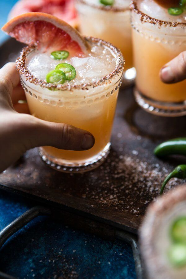 "<strong>Get the <a href=""https://www.halfbakedharvest.com/spicy-grapefruit-margarita/"" target=""_blank"">Spicy Grapefruit Marga"