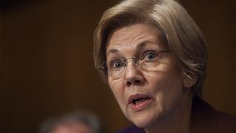 Senator Elizabeth Warren, a Democrat from Massachusetts, speaks during a Senate Health, Education, and Labor Committee confirmation hearing for Betsy DeVos, secretary of education nominee for U.S. President-elect Donald Trump, not pictured, in Washington, D.C., U.S., on Tuesday, Jan. 17, 2017. DeVos said raising costs of higher education need to be addressed, according to prepared remarks for her hearing Tuesday e-mailed by Trump transition team. Photographer: Zach Gibson/Bloomberg via Getty Images