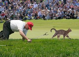 Weird Trump Golf Pic Gets The Ultimate Photoshop Treatment