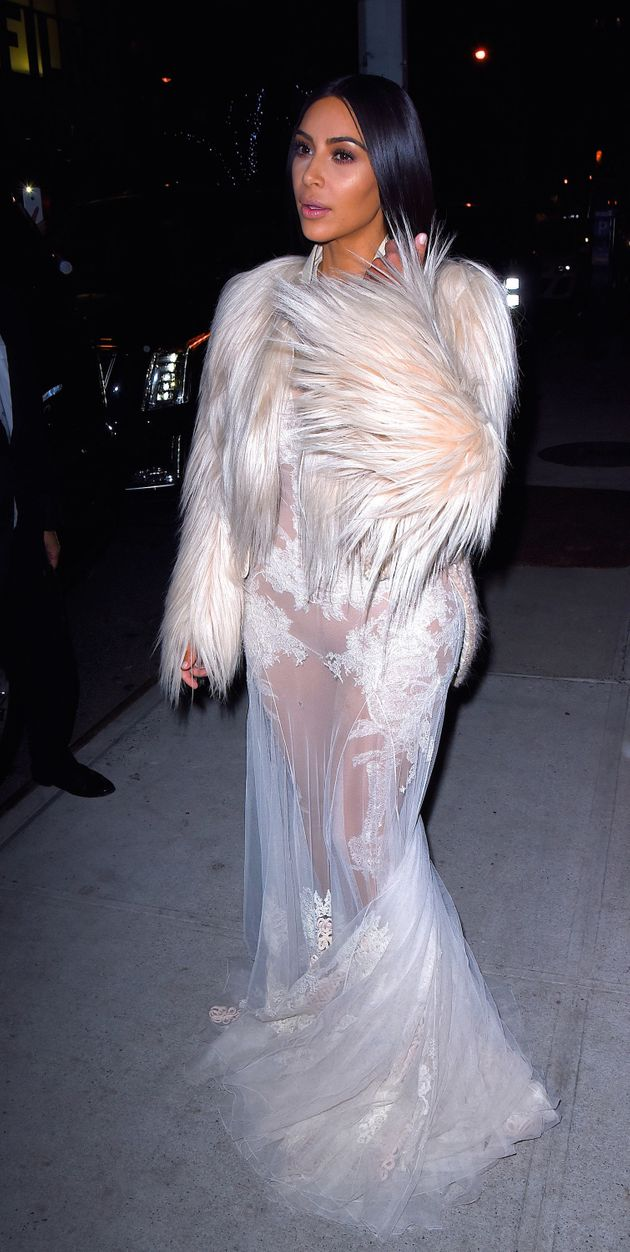Kim Kardashian Makes A Case For The Naked Wedding Dress At ...