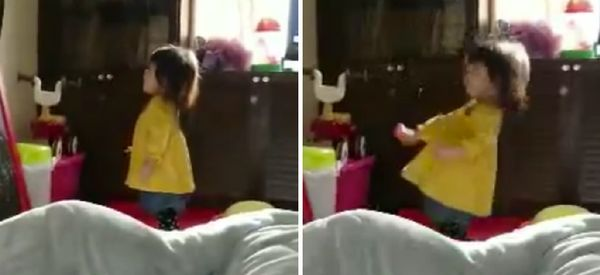 A Toddler Sneezed So Hard She Fell Over, Becomes Our Favourite Little Human