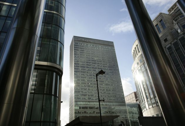 The European HQ of JP Morgan bank in London's Canary