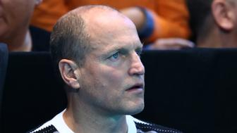 LONDON, ENGLAND - NOVEMBER 20:  Actor Woody Harrelson attends  the Singles Final between Novak Djokovic of Serbia and Andy Murray of Great Britain at the O2 Arena on November 20, 2016 in London, England.  (Photo by Clive Brunskill/Getty Images)