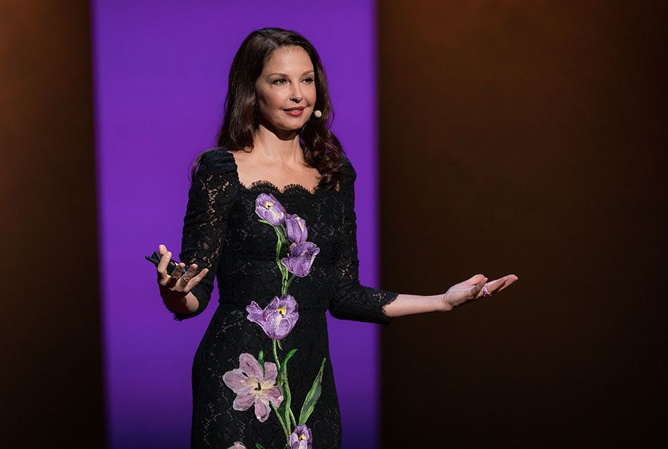 Ashley Judd speaks at TEDWomen 2016 - It's About Time,  October 26-28, 2016, Yerba Buena Centre for the Arts, San Francisco, California. Photo: Marla Aufmuth / TED