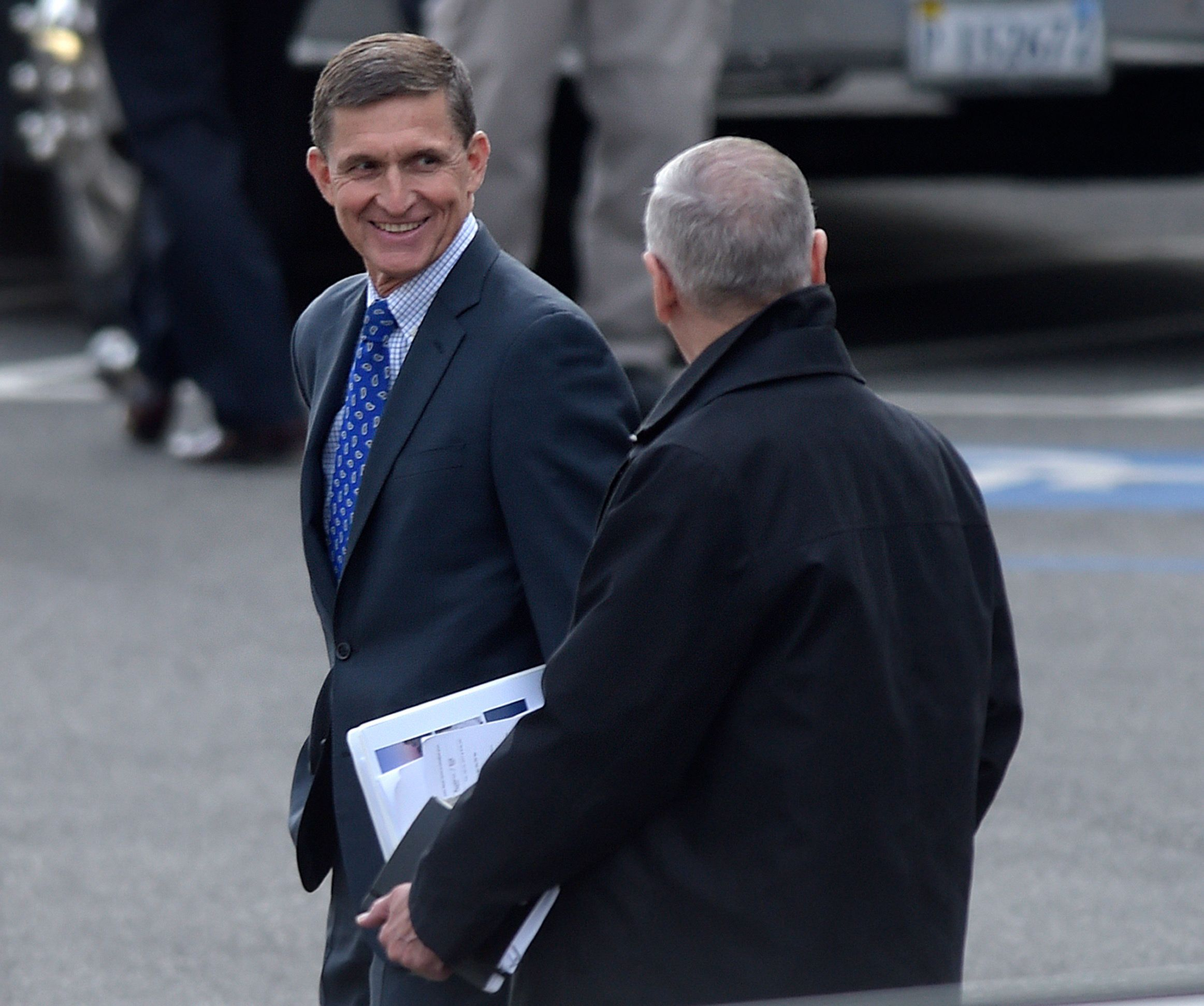 President-elect Donald Trump's national security adviser designate Michael Flynn, left, and Defense Secretary-designate James