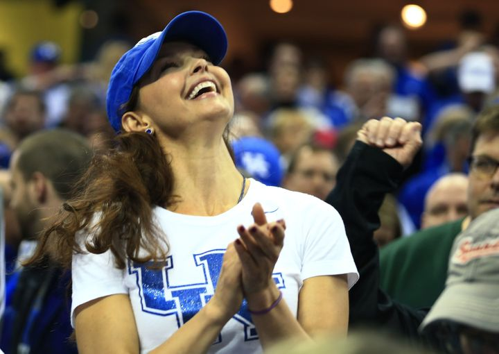 Ashley Judd at a Univ. of Kentucky basketball game in March 2015.
