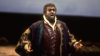 Tenor Placido Domingo singing title role in Verdi's  Otello on stage at the Metropolitan Opera.  (Photo by Johan Elbers/The LIFE Images Collection/Getty Images)