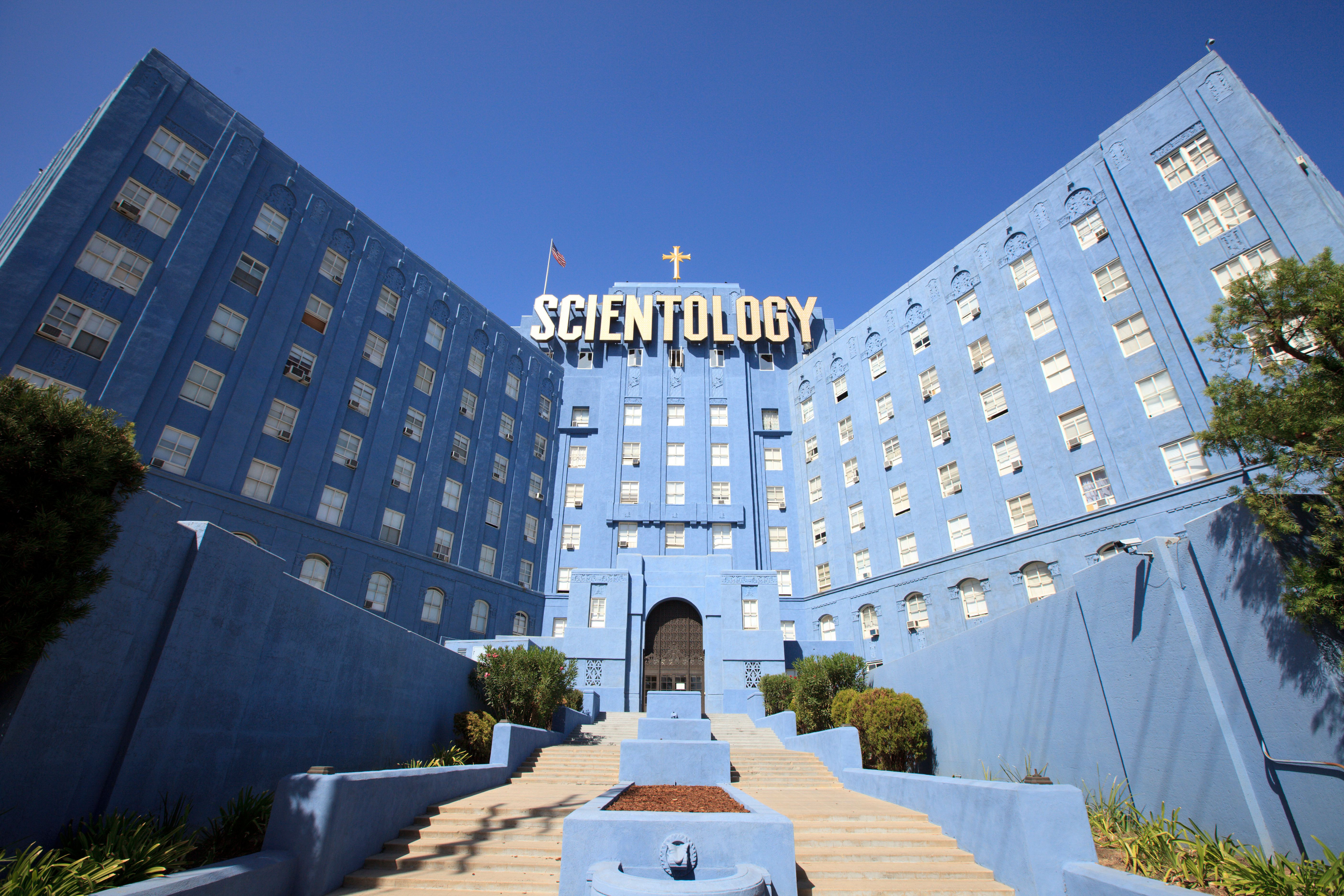 View of the Church of Scientology building in Los Angeles, California. (Photo by Paul Mounce/Corbis via Getty Images)