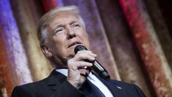 U.S. President-elect Donald Trump speaks during the Chairman's Global Dinner at the Andrew W. Mellon Auditorium in Washington, D.C., U.S., on Tuesday, Jan. 17, 2017. Trump stated that he has 'great respect for your countries' while addressing nearly 150 diplomats and foreign ambassadors at the event. Photographer: Kevin Dietsch/Pool via Bloomberg