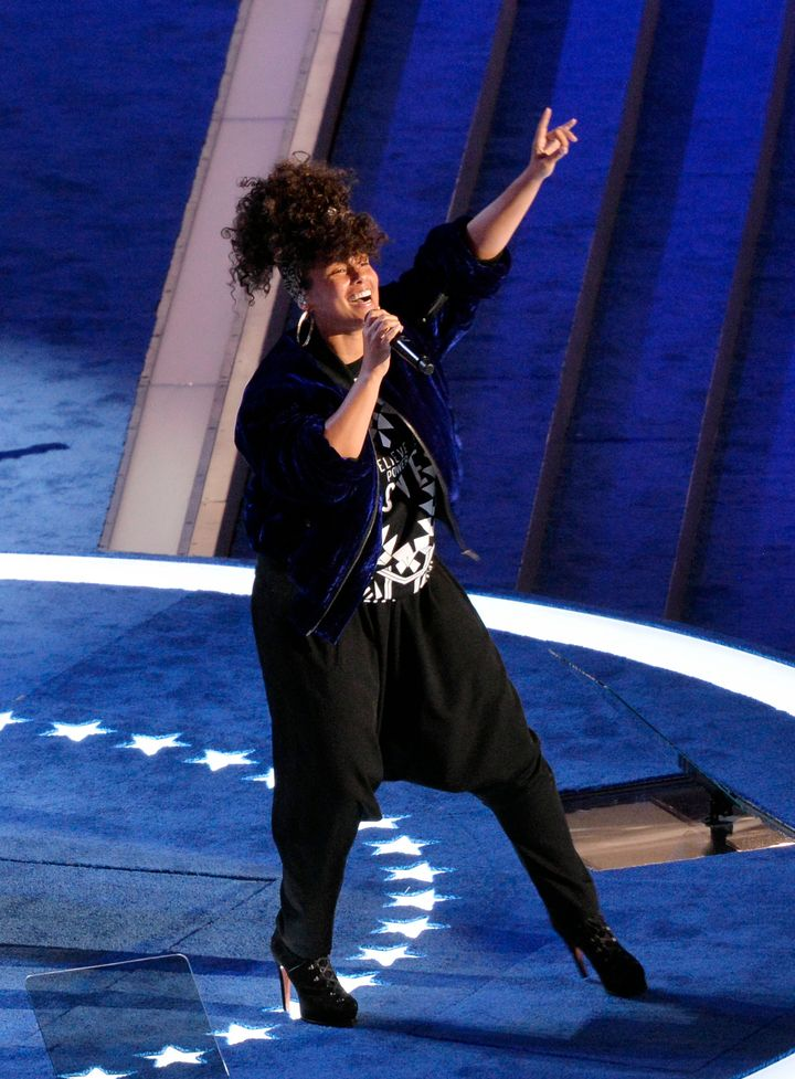 Alicia Keys performed at the 2016 Democratic National Convention in July.