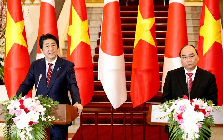 Shinzo Abe visited Vietnam on his recent Asia tour.