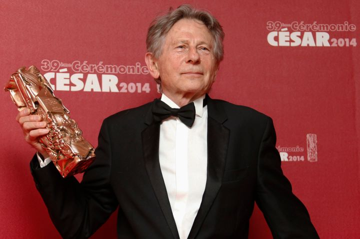Polanski poses with his Best Director award at the 39th Cesar Awards ceremony in Paris on Feb. 28, 2014.