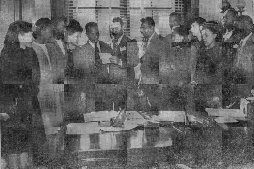 Members of the Southern Negro Youth Congress Meet with Idaho Senator Glen Taylor