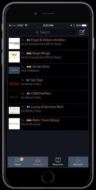 VERITAMO mobile app: requests