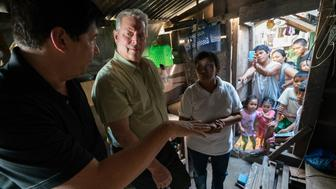 Al Gore appears in <i> An Inconvenient Sequel</i> by Bonni Cohen and Jon Shenk, an official selection of the Documentary Premieres program at the 2017 Sundance Film Festival. Courtesy of Sundance Institute.