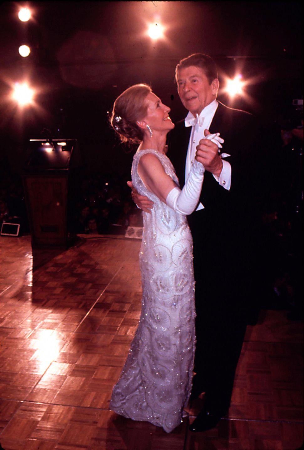 Ronald Reagan dancing with his wife Nancy at his Inaugural Ball on Jan. 20, 1981