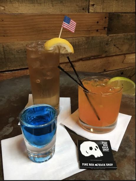 "The description for the Golden Shower is ""Get your Buzzfeed on with this delicious combination of Buffalo Trace bourbon, Goldschlager, and Regatta Ginger Beer, served over ice in the same style Collins glasses used for our Obama-themed cocktails last Inauguration Day!"""