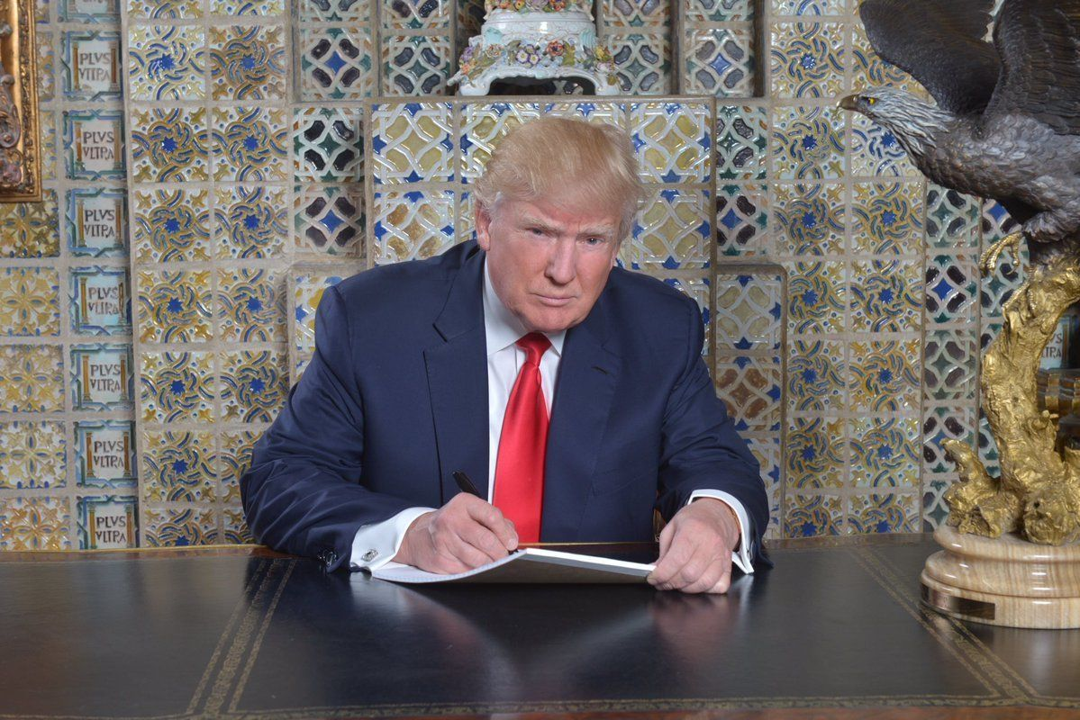 Trump Gets Trolled After Tweeting Photo Of Himself Writing Inauguration