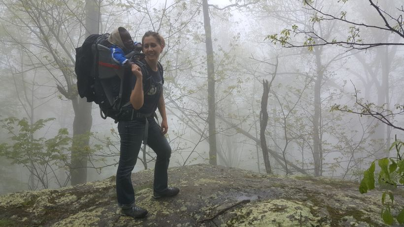 <em>Jackie and her son on a recent hike in Shenandoah National Park</em>