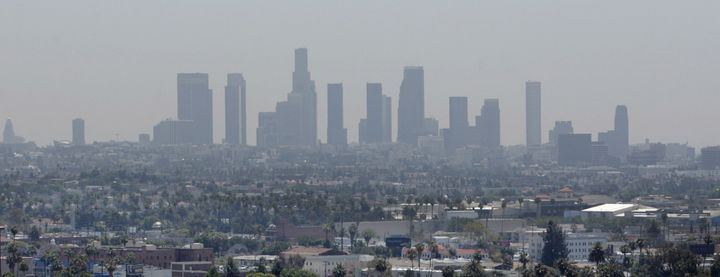 Smog settled over the Los Angeles skyline in 2006. Stronger state and EPA standards have steadily improved air quality in the