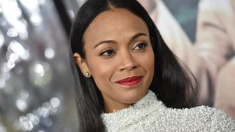HOLLYWOOD, CA - JANUARY 09:  Actress Zoe Saldana arrives at the Premiere of 'Live By Night' at TCL Chinese Theatre on January 9, 2017 in Hollywood, California.  (Photo by Axelle/Bauer-Griffin/FilmMagic)