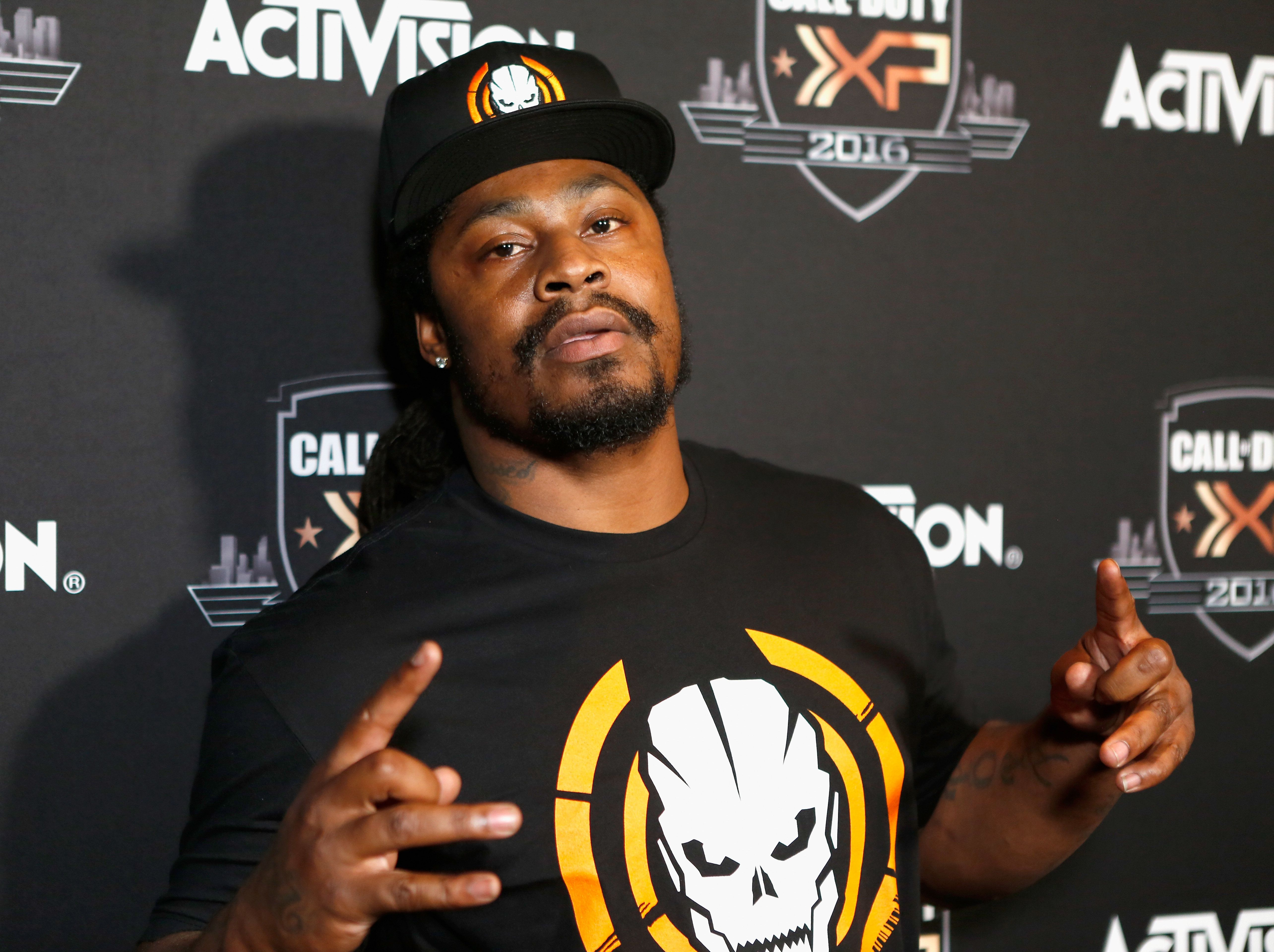 INGLEWOOD, CA - SEPTEMBER 02:  NFL player Marshawn Lynch attends The Ultimate Fan Experience, Call Of Duty XP 2016 presented by Activision at The Forum on September 2, 2016 in Inglewood, California.  (Photo by Randy Shropshire/Getty Images for Activision)