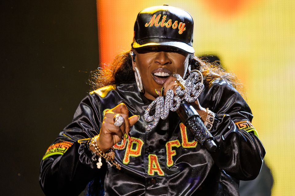 NEWPORT, ISLE OF WIGHT - SEPTEMBER 13:  Missy Elliot performs on day 4 of Bestival at Robin Hill Country Park on September 13